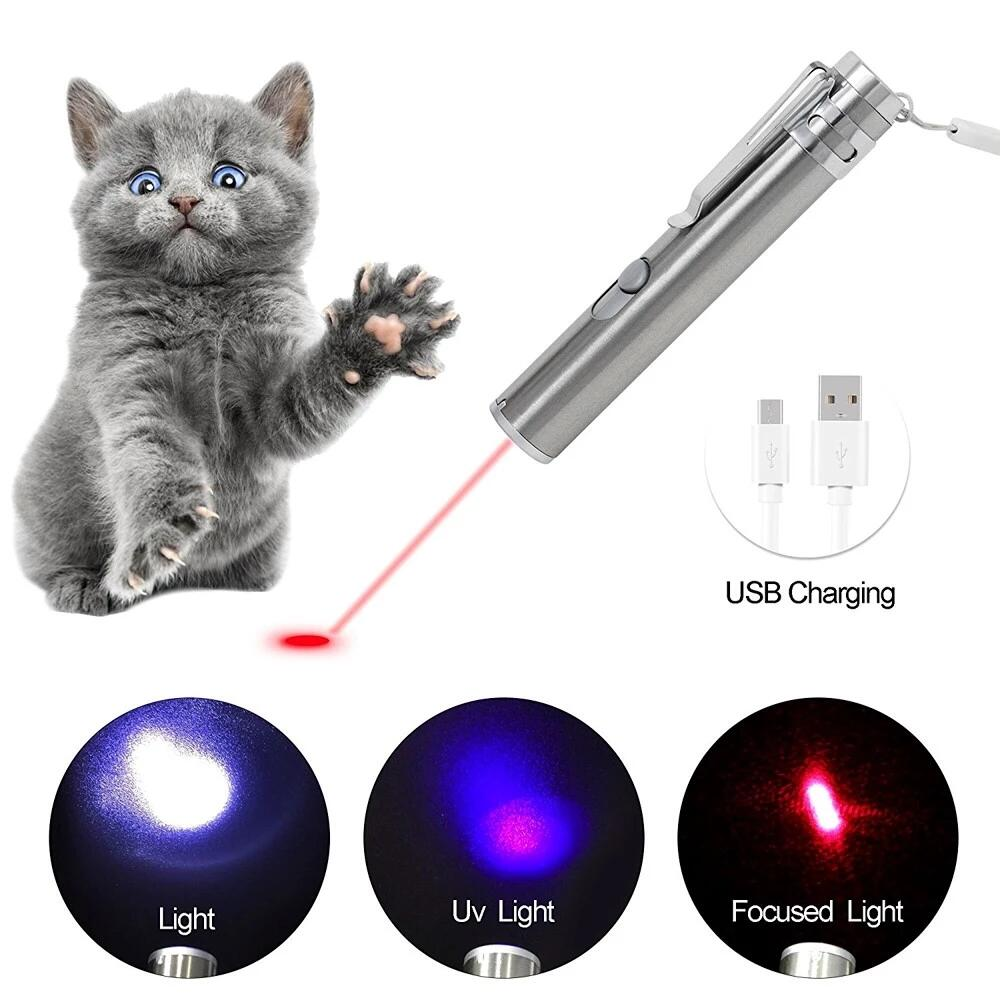 Home / Lasery By Wavelegth / 650nm Lasers / Cat Laser Pointer Interactive  Toy Rechargeable Pet Cat Catch The LED Light Interactive Exercise Toy Cat  Training ...